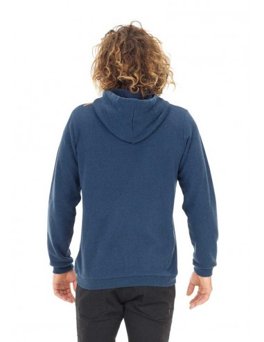 sweat zip picture bleu Base. hoody zip