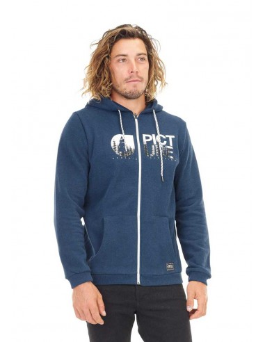 sweat zip homme picture bleu Base. hoody zip