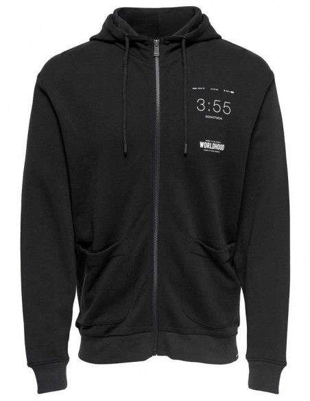Onswilder zip hood sweat