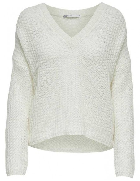 Onlbluebell l/s v-neck pullover wool knt