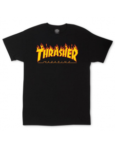 Thrasher t-shirt flame logo black
