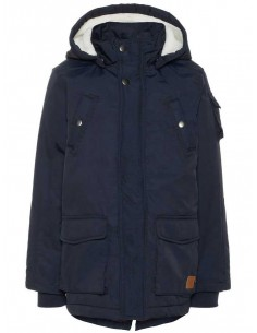 veste enfant Name It bleu Nkmmadoc parka jacket noos