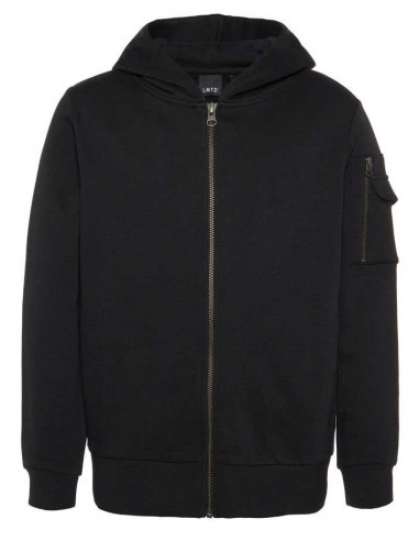 sweat zip enfant Name It noir Nlmlucas ls sweat card w hood