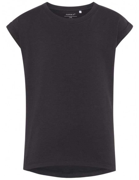 t-shirt fille Name It noir Nkfvilda ss top noos