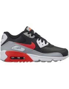 sneaker enfant nike noir Boys' nike air max 90 leather (gs) shoe 833412-024