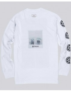 t-shirt ml homme Element blanc Nassim ls