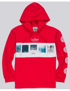 sweat capuche homme Element rouge Negative ho
