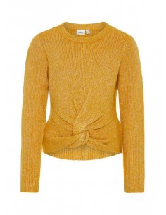 pull maille fille Name It jaune Nkfrasha ls knit