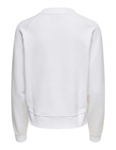 sweat only blanc Onllotta l/s o-neck bf swt