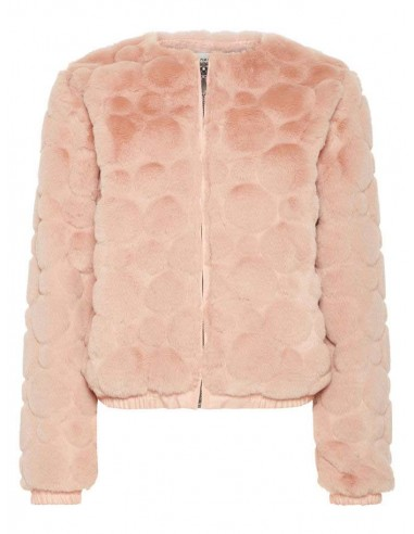 veste fille name it rose Nkfseline faux fur bomber