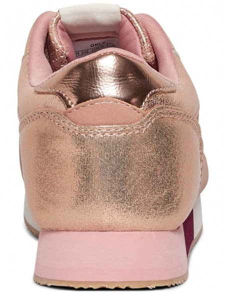 chaussure femme only rose Onlsillie mix sneaker