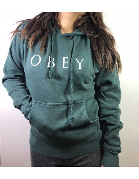 sweat capuche Obey vert Novel obey 2 (212741274)