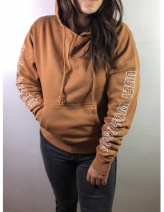 sweat capuche femme obey marron Obey worldwide outline