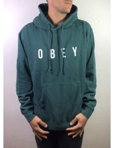 sweat capuche homme obey vert Anyway 112651638