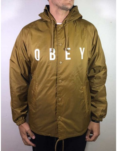 veste coupe vent obey marron Anyway