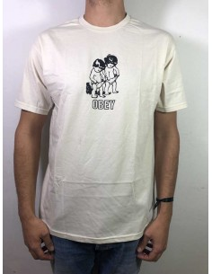tee-shirt homme obey blanc Curious kiddo's