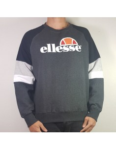sweat homme ellesse gris Eh h sws col rond tricol