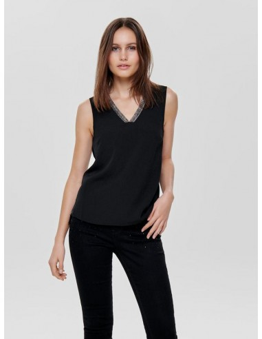 top only noir Onlsharon s/l v-neck top wvn