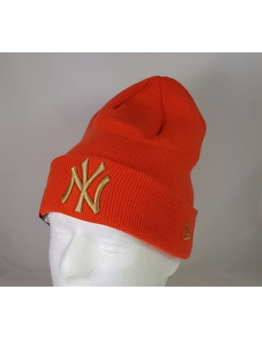 bonnet homme newera orange League essential cuff 11794666