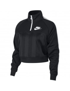 sweat fille nike noir W nsw top ls hz shdw strp AR2270-010