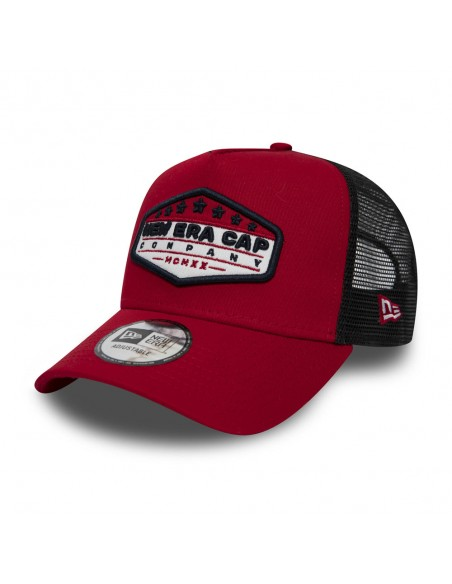 casquette trucker homme newera rouge Ne cap patch truckr