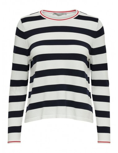 pull femme only blanc Onlsuzana l/s pullover knt noos