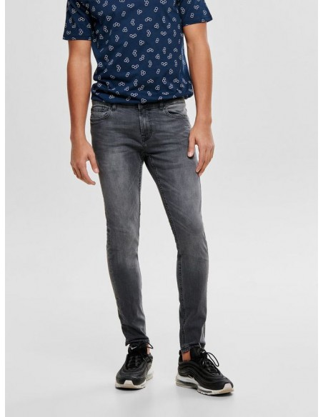 jean homme only&sons gris Onswarp grey dcc 2051 noos
