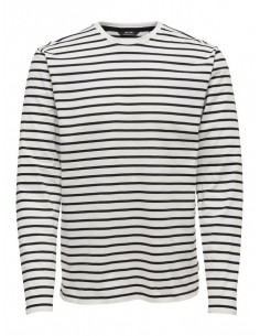 t-shirt ls homme only&sons blanc Onsevan heavy ls tee noos
